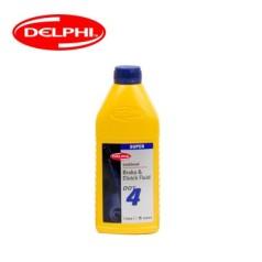 德尔福科技 刹车油 DOT4 1.0L 德尔福刹车油 制动液SSB9414M.D (包装1.0L*20,价格为单瓶)