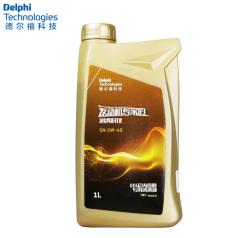 德尔福科技 金色 全合成 SN 5W-40 1L(GDI缸内直喷专用润滑油) 德尔福机油28492415 (包装1L*12,价格为单瓶)