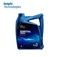 德尔福科技 蓝色 T6半合成油 SN 10W-40 4L 德尔福机油28492402 (包装4L*6,价格为单瓶)