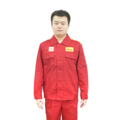 殼牌紅色長袖工衣套裝M/L/XL/XXL