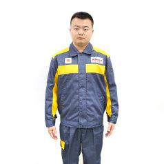 劲霸灰色长袖套装(灰领)工衣套装