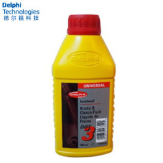 德爾福科技 剎車油 DOT3 0.5L 德爾福剎車油 制動液SSB9312M.CH (包裝0.5L*20,價格為單瓶)