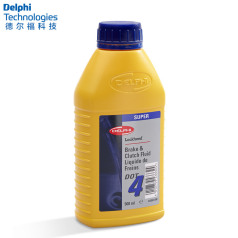 德尔福科技 刹车油 DOT4 0.5L 德尔福刹车油 制动液SSB9412M.D (包装0.5L*20,价格为单瓶)